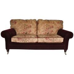"""George Smith Signature """"Elverdon-Arm"""" Medium 2.5-Seat Sofa in Mohair & Gollut"""