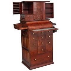 19th Century Mahogany Dentist's Cabinet