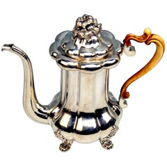 Silver 13 Lot Austrian Coffee Pot Vintage Vienna Karl Paltscho, 1853