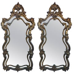 Pair of Rococo Style Wall Mirrors