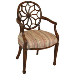 Mahogany Regency Style Spider Back Side Chair by Sherrill Furniture