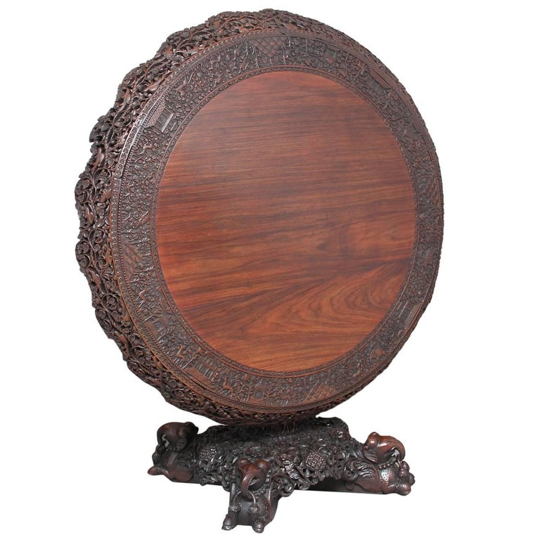 19th Century Highly Carved Centre Table