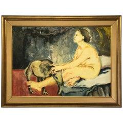 """Juan Carlos Bronstein Oil Painting """"El Sueno"""""""
