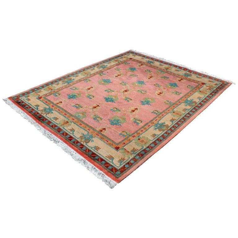 Mid-Century Modern Large Tibetan Hand Knotted Tufenkian Rug Carpet