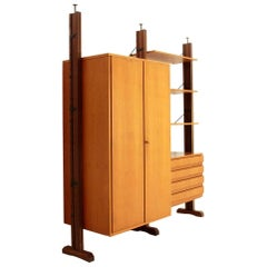 Italian Uprights Wall Unit with Cabinet