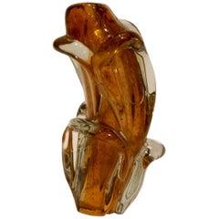 Henri Navarre, an Art Deco Applied Glass Vase, Signed