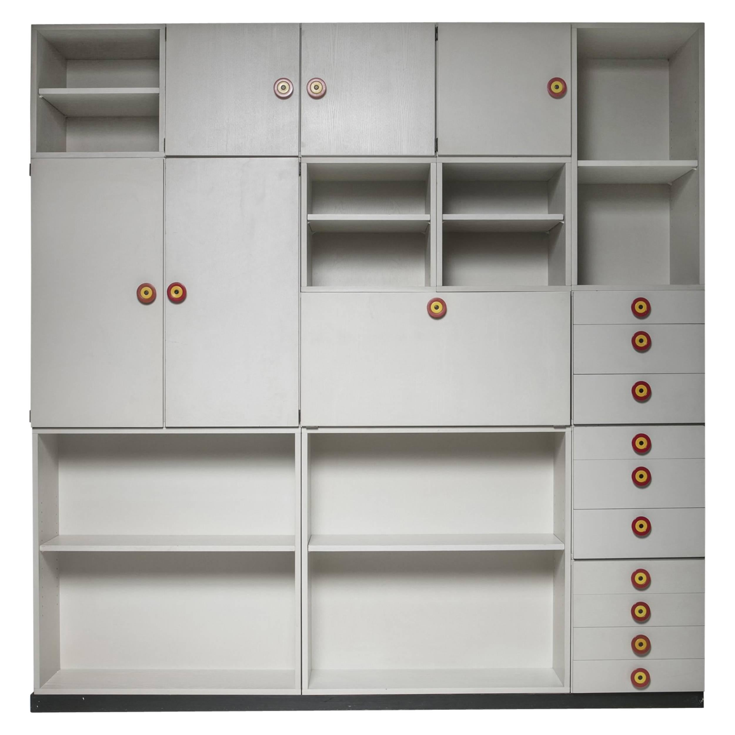set of 15 shelving system by ettore sottsass for poltronova
