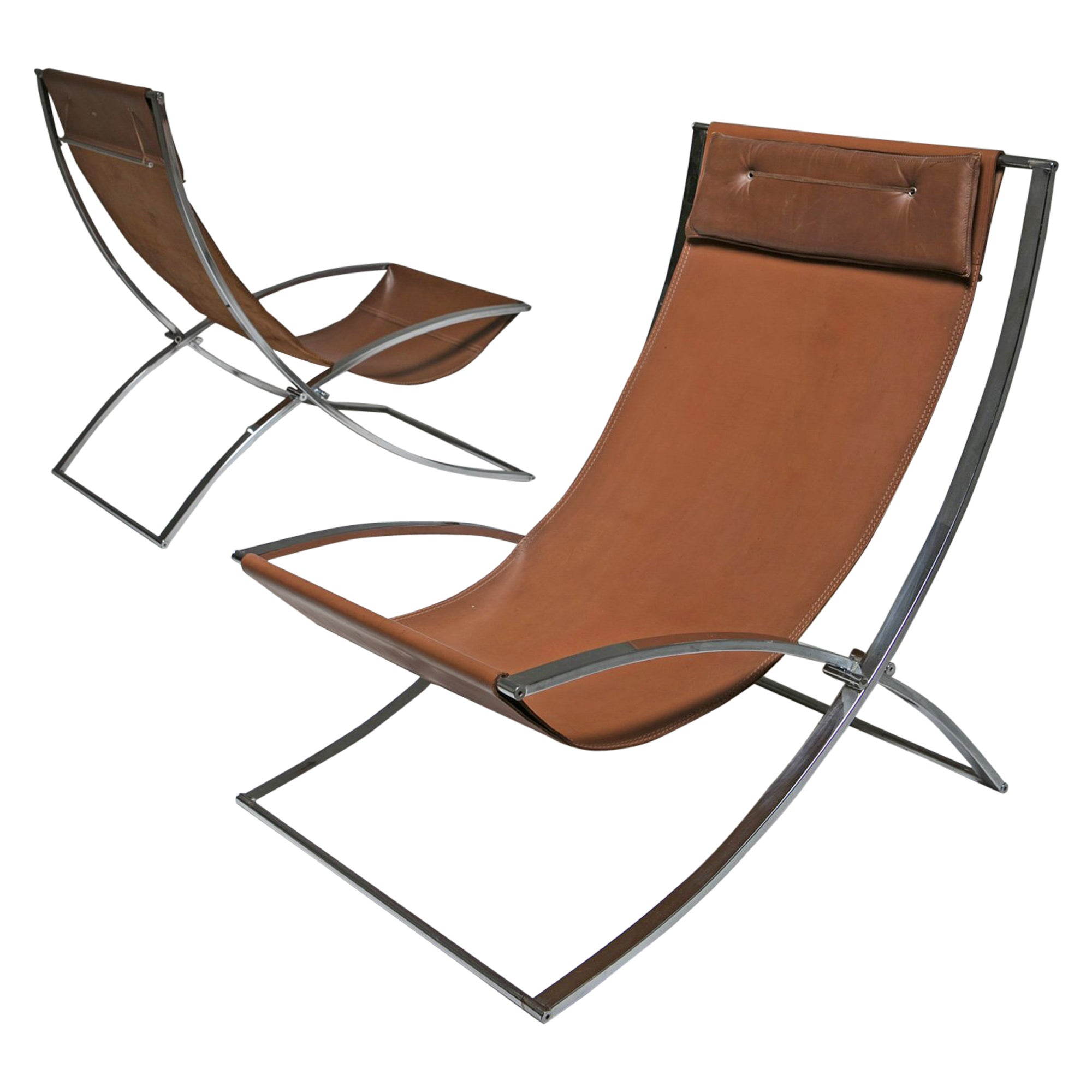 Pair of Lounge Chairs by Marcello Cuneo for Mobel