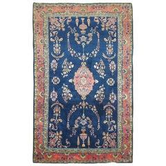 Blue Antique Mohajeran Persian Sarouk Rug