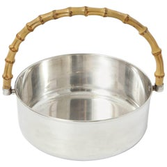 Gucci Silver Plate Bowl with Classic Wood Handle
