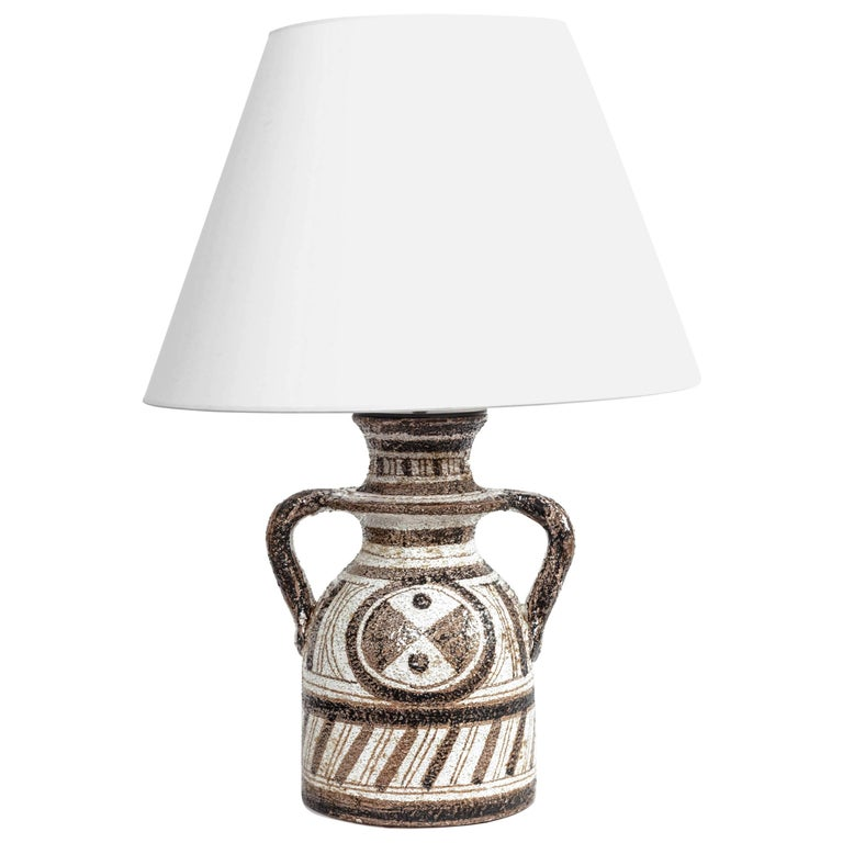Graphic Textured Rosenthal Netter Table Lamp For Sale
