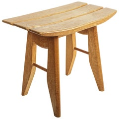Oak Stool by Guillerme et Chambron