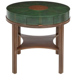 Tommi Parzinger Walnut Side Table