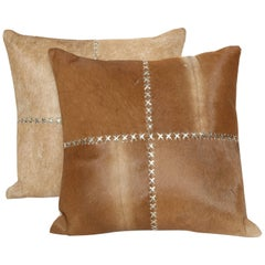 Caramel Colored Hide Pillows