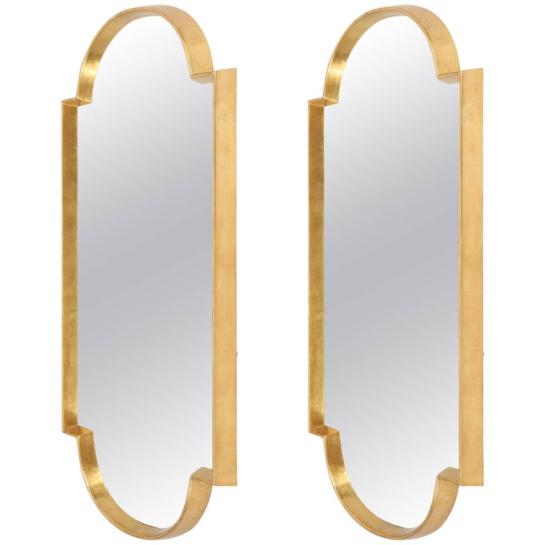 Mirrors, Pair of Gold Leaf For Sale