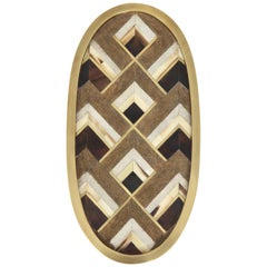 Tray, Made of Shagreen, Palm Wood and Bronze Offered by Area ID