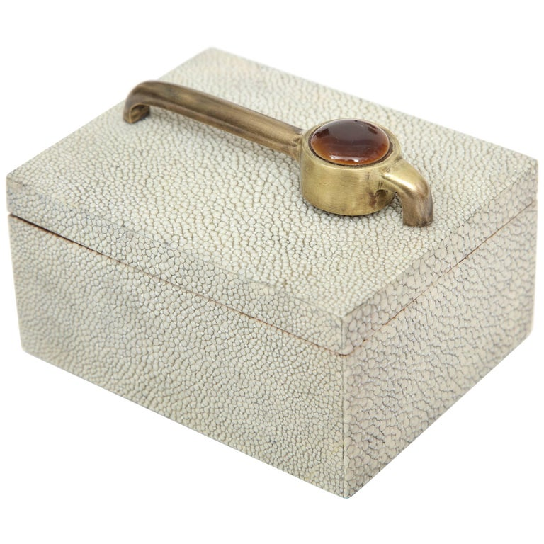 Box, Shagreen with Bronze Details