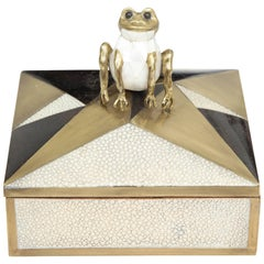 Box, Shagreen, Palm Wood and Bronze, Offered by Area ID