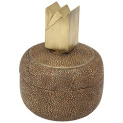Box, Shagreen with Bronze Detail, Offered by Area ID