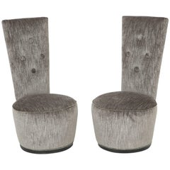 Elegant Pair of Dolphin Chairs by James Mont offered by PRIME Gallery
