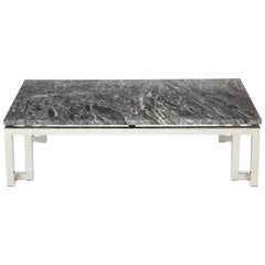 Polished chrome Greek Key Coffee Table