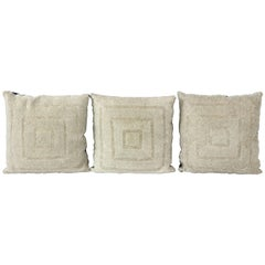 Trio of Vintage Beaded Pillows