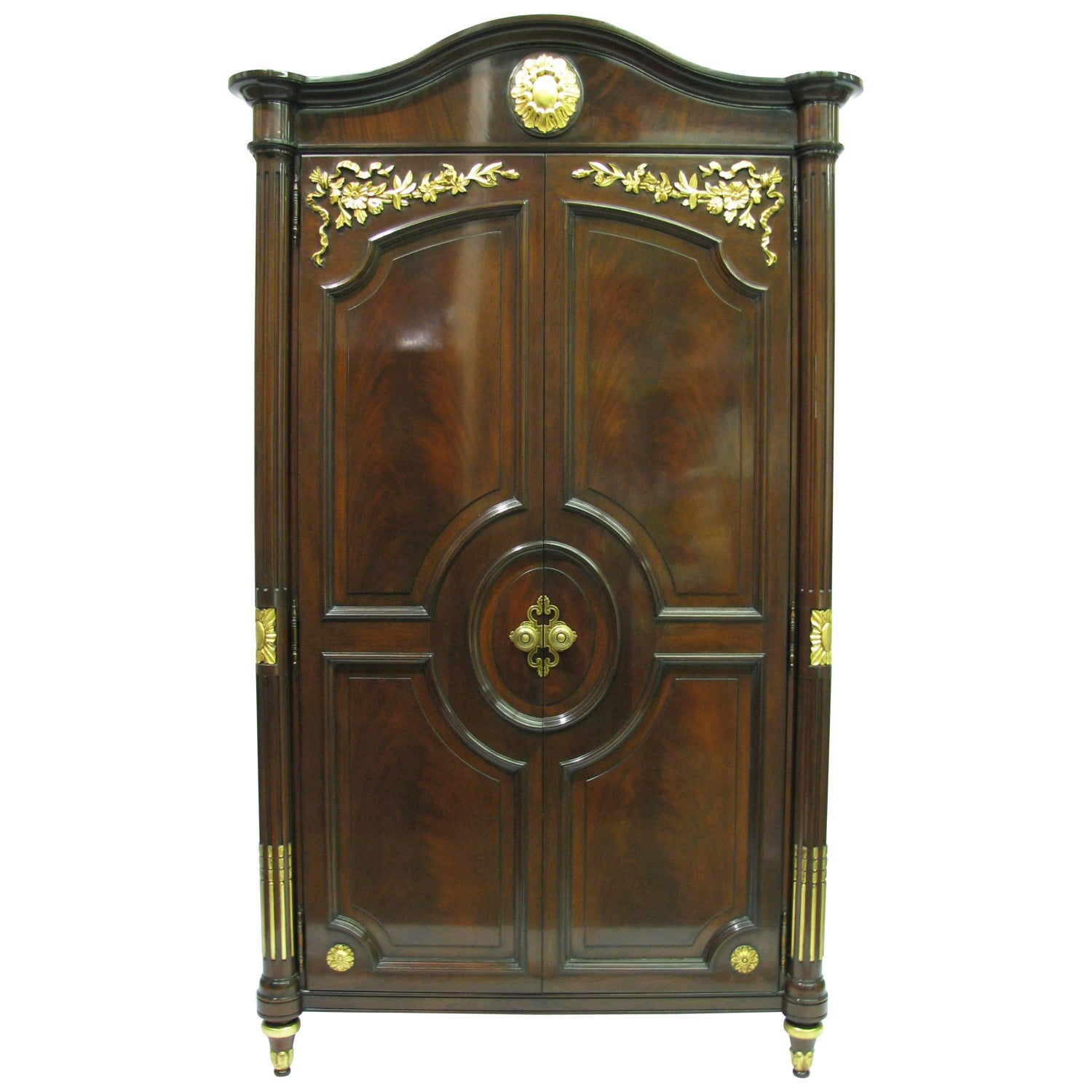 louis xvi style painted armoire with glass door for sale at 1stdibs