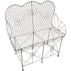 French Wire Garden Settee