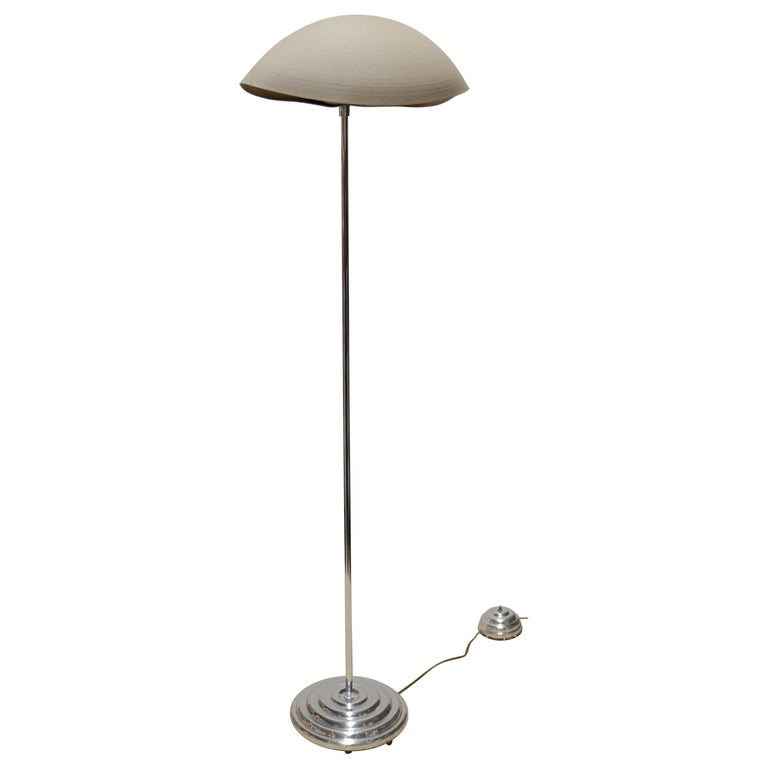 1970s Floor Lamp with Shell Shaped Shade For Sale