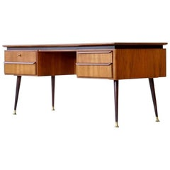 Exclusive Free-Standing Desk by Erwin Behr, Mid-Century Modern, 1950s
