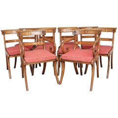Set of Ten Early 20th Century Maple Dining Chairs
