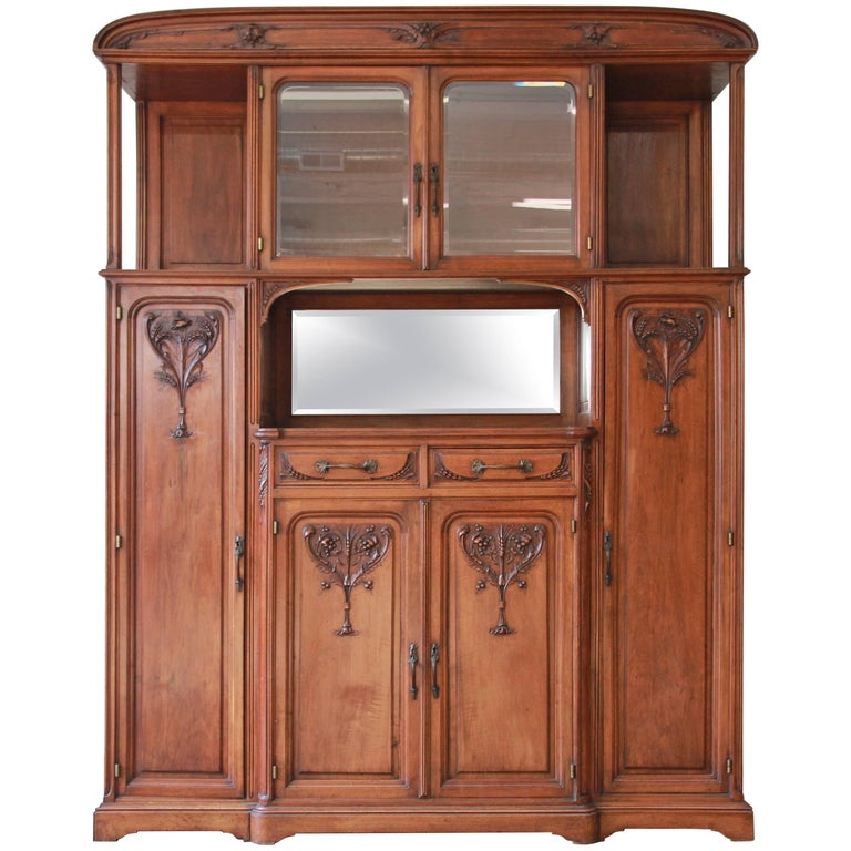 Fine French Art Nouveau Sideboard Cabinet in the Manner of Louis Majorelle