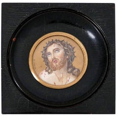 Duvivier Miniature Portrait Hand-Painting of Jesus Christ