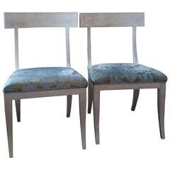 Sublime Pair of Niermann Weeks Elgin Side Chairs