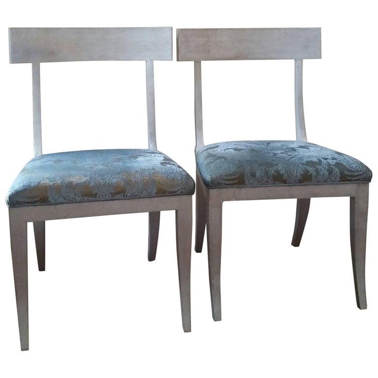 Sublime Pair Of Niermann Weeks Elgin Side Chairs For