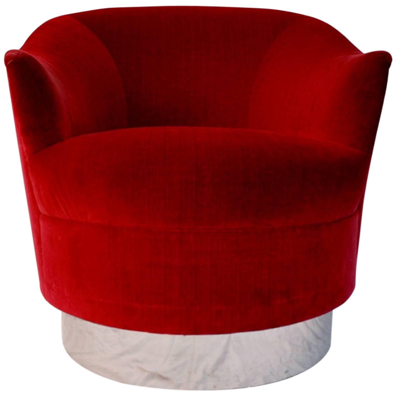 Elegant Swivel Chair, by Karl Springer