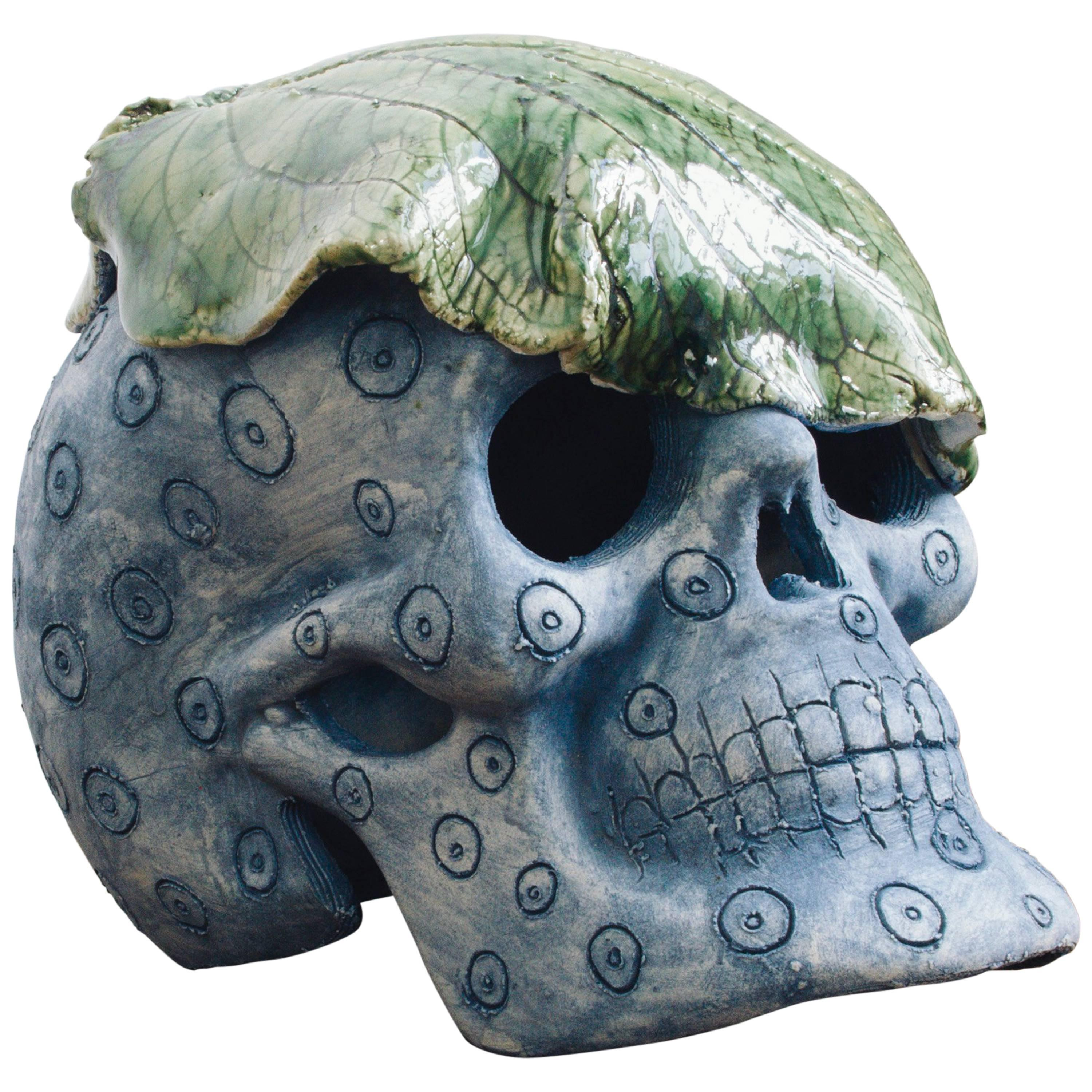 Mexican Day Of The Dead Ceramic Skull Folk Art Sculpture Edition 1 30 For Sale At 1stdibs