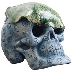 Mexican Day of The Dead Ceramic Skull Folk Art Sculpture, Edition 1/30