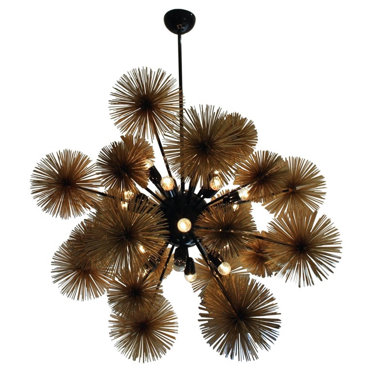 Beautiful and Unusual Sputnik Chandelier For Sale