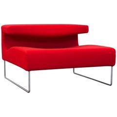 Moroso Lowseat Designer Chair Fabric Red One-Seat Microfibre Couch Modern