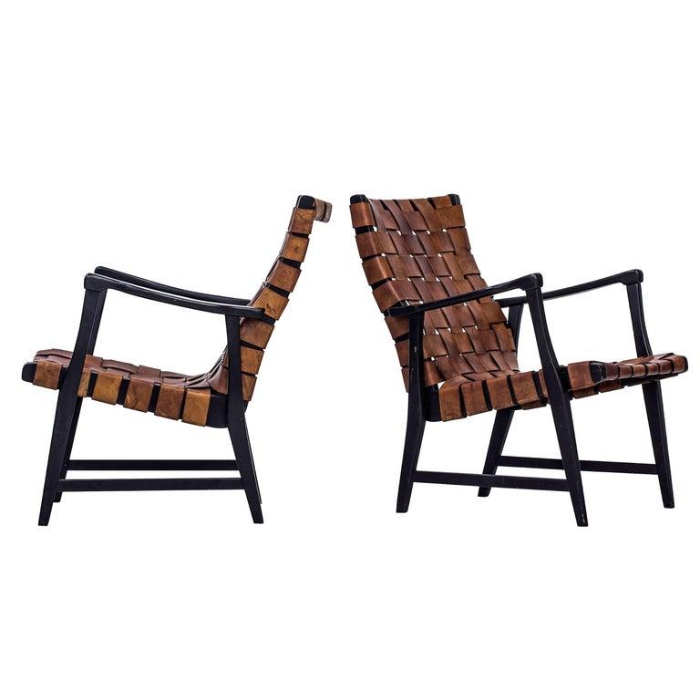 Swedish 1940s Easy Chairs by Elias Svedberg