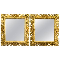 Antique Pair of Florentine Giltwood Mirrors, circa 1870