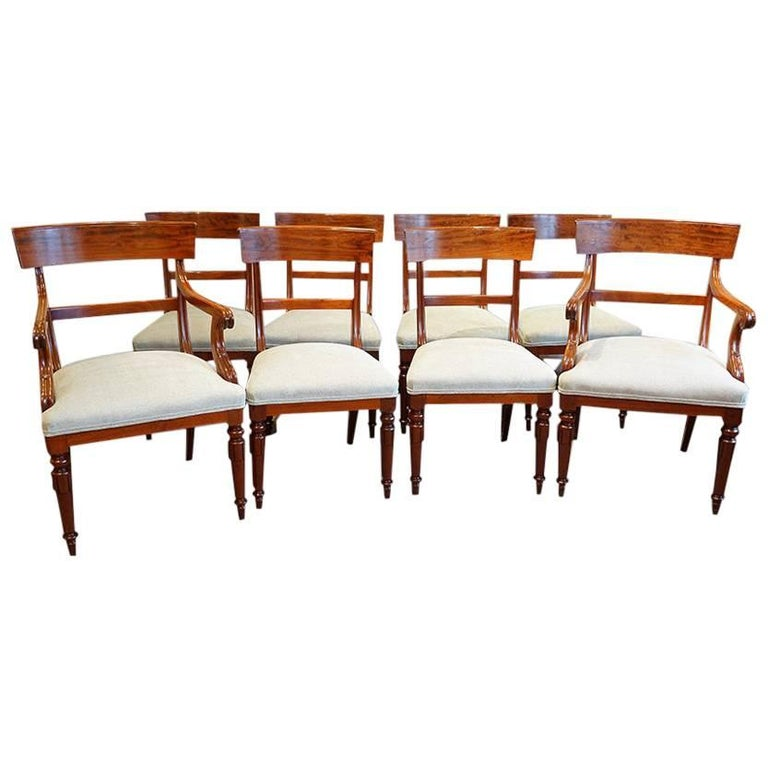 Set Of Eight William Iv Dining Chairs At 1stdibs