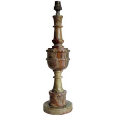 Marble Table Lamp Base 17 inches tall, Italian Circa 1930s