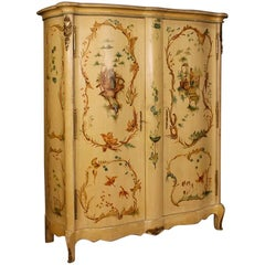 20th Century Lacquered and Painted Armoire