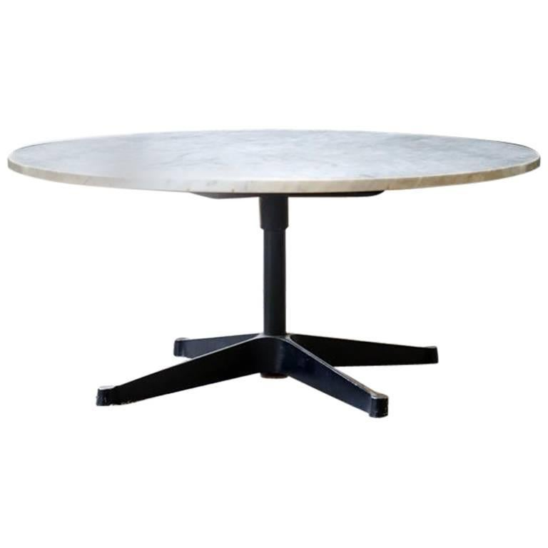 Charles Ray Eames Marble Coffee Side Table Aluminium Group Couch - Eames marble table