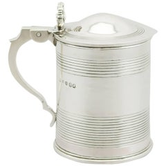 1820s Antique George IV Sterling Silver Half Pint Tankard