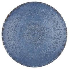 One of a Kind Blue Ceramic Decorative Plate