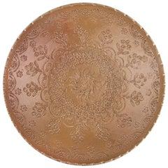 One of a Kind Terracotta Ceramic Decorative Plate