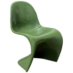 1965, Verner Panton, Stacking Chair, Herman Miller, First Edition in Green